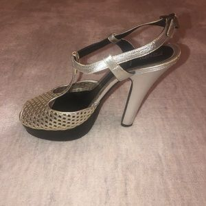 Fendi Shoes - FENDI silver heels